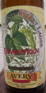 Avery Anniversary Ale - Seventeen (Dry Hopped Black Lager)