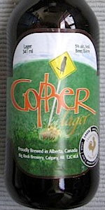 Big Rock Gopher Lager