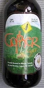 Big Rock Gopher Lager