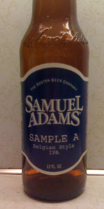 Samuel Adams Sample A - Belgian IPA