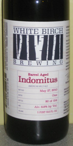 White Birch Barrel Aged Indomitus (Batch 1)