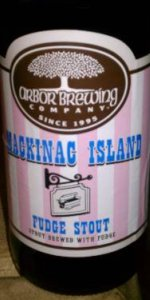 Arbor Brewing Mackinac Island Fudge Stout