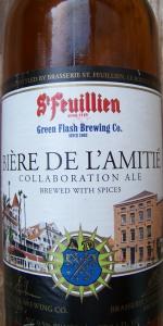 Bière De L'Amitié (Green Flash & Brasserie St. Feuillien)