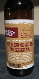 Alley Kat 15th Anniversary Ginger Beer