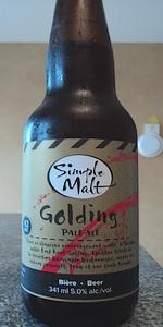 Simple Malt Golding Pale Ale
