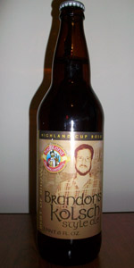 Highland Brandon's Kölsch Style Ale