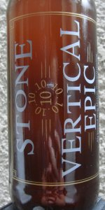 Stone 10.10.10 Vertical Epic Ale