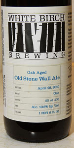 White Birch Oak Aged Old Stone Wall Ale