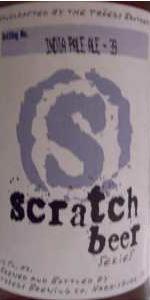 Scratch Beer 39 - 2010 (IPA #3 Of 4)