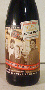 Bourbon Barrel Heine Brothers Coffee Stout