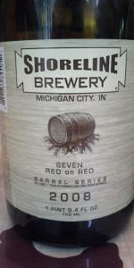 Seven Red On Red Rye Ale Aged In French Oak Shiraz Barrels