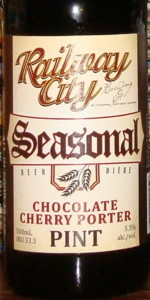 Railway City Chocolate Cherry Porter
