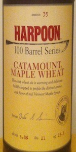 Harpoon 100 Barrel Series #35 - Catamount Maple Wheat