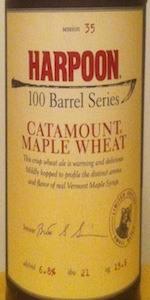 100 Barrel Series #35 - Catamount Maple Wheat