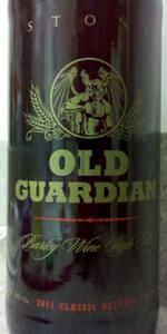Stone Old Guardian Barley Wine Style Ale 2011