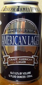 Joseph James Craft American Lager