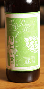 Rio's Rompin Rye Beer