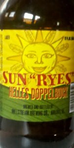 "Millstream Sun ""Ryes"" Helles Doppelbock"