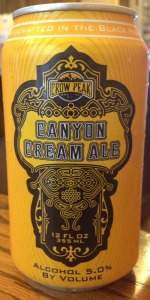 Canyon Cream Ale