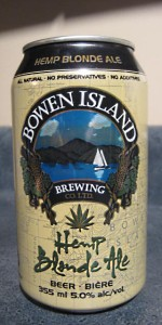 Bowen Island Reef Break Hemp Blonde Ale