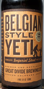 Belgian Style Yeti