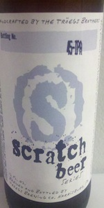 Scratch Beer 45 - 2011 (Experimental American IPA)