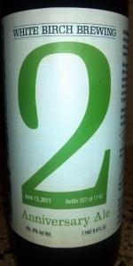 White Birch 2 Anniversary Ale