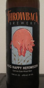 Throwback Hog Happy Hefeweizen