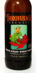 Throwback Maple-Kissed Wheat Porter