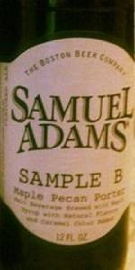 Samuel Adams Sample B - Maple Pecan Porter