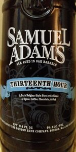 Samuel Adams Thirteenth Hour Stout (Barrel Room Collection)