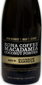 Barrel Aged Ken Schmidt / Maui / Stone Kona Coffee Macadamia Coconut Porter