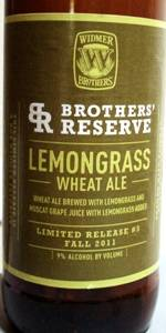 Lemongrass Wheat Ale (Brothers' Reserve Series)