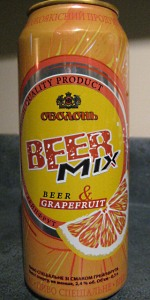 Obolon Beer Mix Grapefruit
