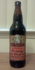Orange & Black Congrats Ale!