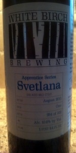 White Birch Apprentice Series Svetlana