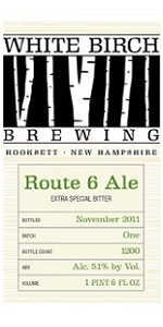 White Birch Route 6 Ale