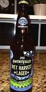 2011 Owens Valley Wet Harvest Lager