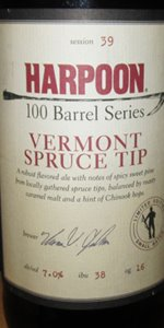 Harpoon 100 Barrel Series #39 - Vermont Spruce Tip