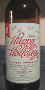 Spiced Dark Ale
