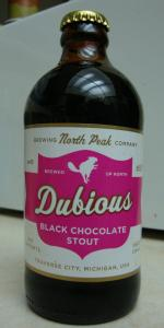 Dubious Black Chocolate Stout