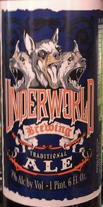 Underworld Brewing Traditional Ale