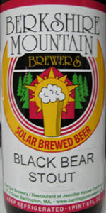 Black Bear Stout | Barrington Brewery & Restaurant / Berkshire ...