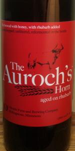 The Auroch's Horn Aged On Rhubarb
