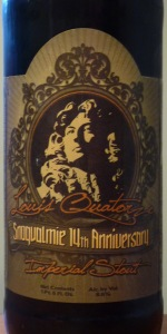 Louis Quatorze 14th Anniversary Imperial Stout
