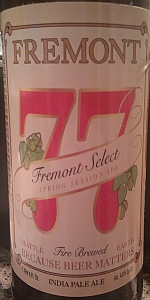 77 Fremont Select Spring Session IPA