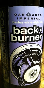 Oak-Aged Backburner (Imperial Barley Wine Style Ale)