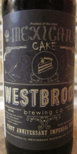 Incredible Mexican Cake Westbrook Brewing Co Beeradvocate Funny Birthday Cards Online Alyptdamsfinfo