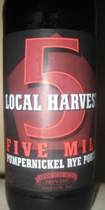 Local Harvest Five Mile Pumpernickel Rye Porter