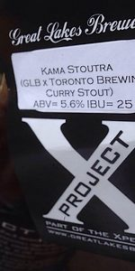 Great Lakes / Toronto Brewing Kama Stoutra